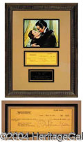 "Autographs, Clark Gable ""Gone With The Wind"" Signed Display"