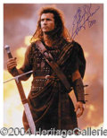 "Autographs, Mel Gibson Signed ""Braveheart"" Photo"