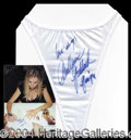 Autographs, Anna Marie Goddard Signed Panties