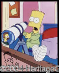 Autographs, Matt Groening Simpsons Signed Photo w/Sketch