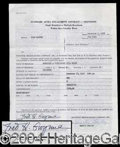 Autographs, Fred Gwynne Signed Document