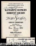 Autographs, Katharine Hepburn Signed Theater Program