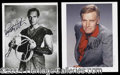 Autographs, Charlton Heston Signed Photo Lot (2)