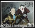 Autographs, Charlton Heston & James Stewart Signed Photo