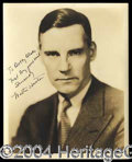 Autographs, Walter Huston Signed Photo to Robert Blake!
