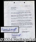 Autographs, Boris Karloff Signed Contract Agreement