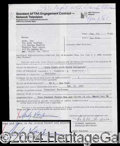 Autographs, Andy Kaufman Rare Signed Agreement