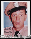 "Autographs, Don Knotts Signed ""Barney"" Photo"