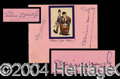 Autographs, Laurel and Hardy Vintage Signatures