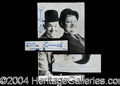 Autographs, Laurel and Hardy Signed Postcard Photo