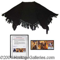Vivien Leigh's Shawl from GWTW! - An incredible relic from one of the greatest films of all time, this woven black shawl...