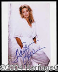 Autographs, Heather Locklear Signed 8 x 10 Photo