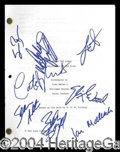 Autographs, The Lord of the Rings Cast Signed Script