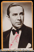 Autographs, Bela Lugosi Signed Postcard Photo