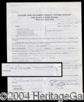 Autographs, Fred MacMurray Signed Document