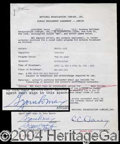 Autographs, Gummo Marx (Groucho Marx) Signed Document