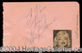 Autographs, Marilyn Monroe Signed Album Page