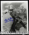 Autographs, Clayton Moore Signed 8 x 10 Photo