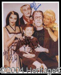 Autographs, The Munsters Signed Cast Photo w/Gwynne
