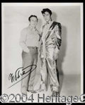 Autographs, Nudie (Elvis Presley) Signed Photo
