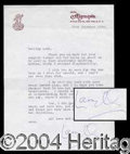 Autographs, Laurence Olivier Typed Letter Signed