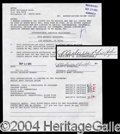 Autographs, Michelle Pfeiffer Rare Signed Contract