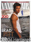 Autographs, Brad Pitt Handsome Signed Magazine