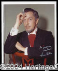 Autographs, Vincent Price Signed 8 x 10 Photo