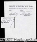 Autographs, Jason Priestley's Original 90210 Contract!
