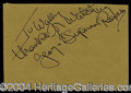 Autographs, George Reeves Terrific Vintage Signature