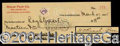 Autographs, Hal Roach Signed Bank Check