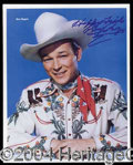Autographs, Roy Rogers Great Signed 8 x 10 Photo