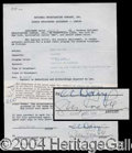 Autographs, Gypsy Lee Rose Signed Document