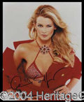 Autographs, Claudia Schiffer Signed 8 x 10 Photo