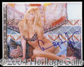 Autographs, Claudia Schiffer Sexy Signed Photo