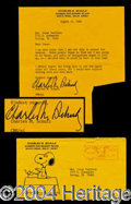 Autographs, Charles Schulz Typed Letter Signed