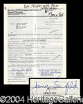Autographs, Jerry Seinfeld Signed Document