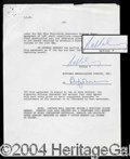 Autographs, Rod Serling Signed Contract