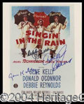 Autographs, Singin' In The Rain Cast Signed Photo