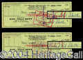 Autographs, Red Skelton Signed Bank Checks (2)