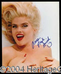 Autographs, Anna Nicole Smith Signed Nude Photo