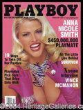 Autographs, Anna Nicole Smith Signed April 2002 Playboy