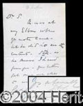 Autographs, E.A. Sothern Handwritten Letter Signed