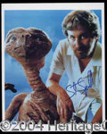 Autographs, Steven Spielberg Signed Photo w/E.T.