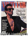 Autographs, Sylvester Stallone Signed Magazine