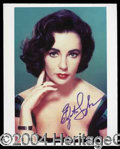 Autographs, Elizabeth Taylor Signed 8 x 10 Photo
