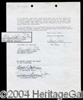Autographs, Elizabeth Taylor Signed Document
