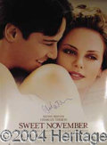 Autographs, Charlize Theron Signed Movie Poster