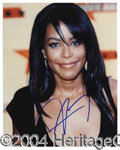 Autographs, Aaliyah Signed 8 x 10 Photo