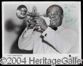 Autographs, Louis Armstrong Vintage Signed 8 x 10 Photo